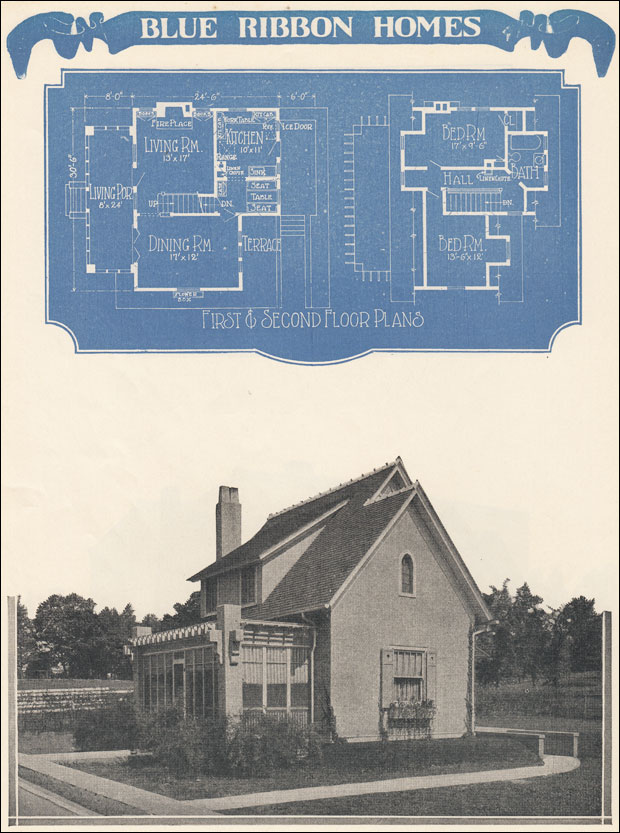 1920s Gothic French Revival House Plan 1924 Radford S