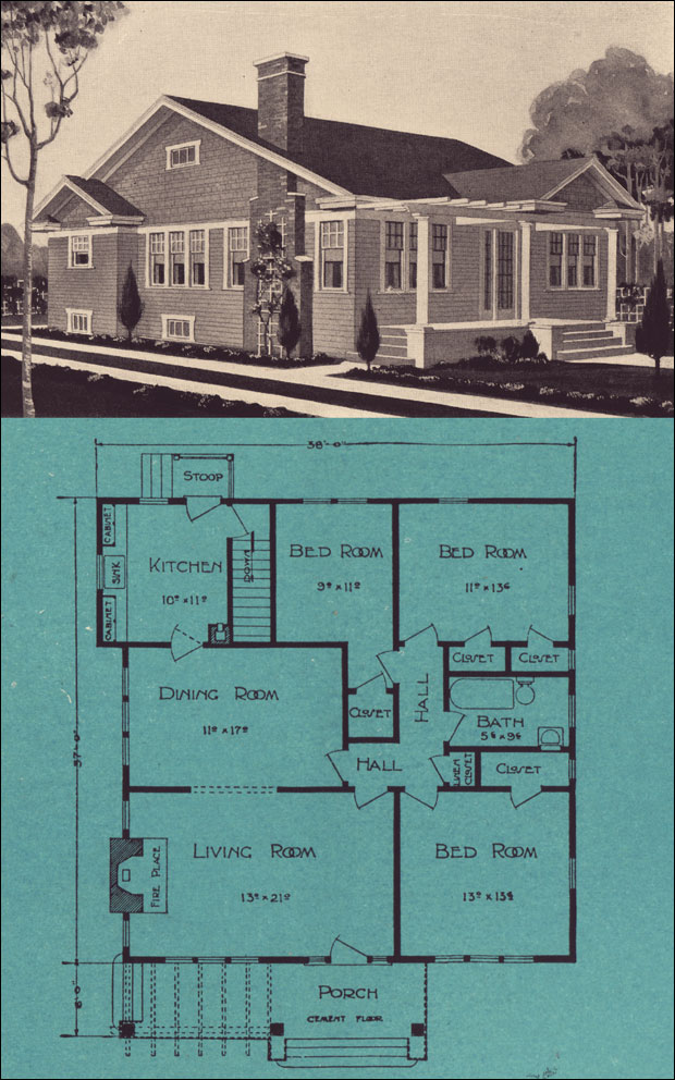 1920s bungalow cottage stetson post seattle house for 1920 house plans