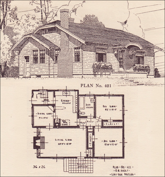 1924 clipped gable cottage house plans the portland for House plans portland oregon