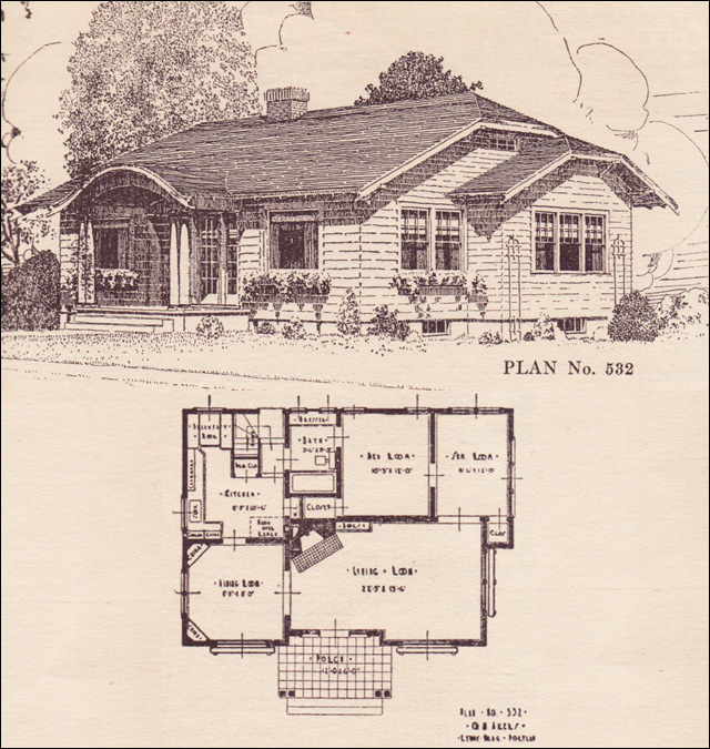 No 532 Clipped Gable Cottage House Plans The