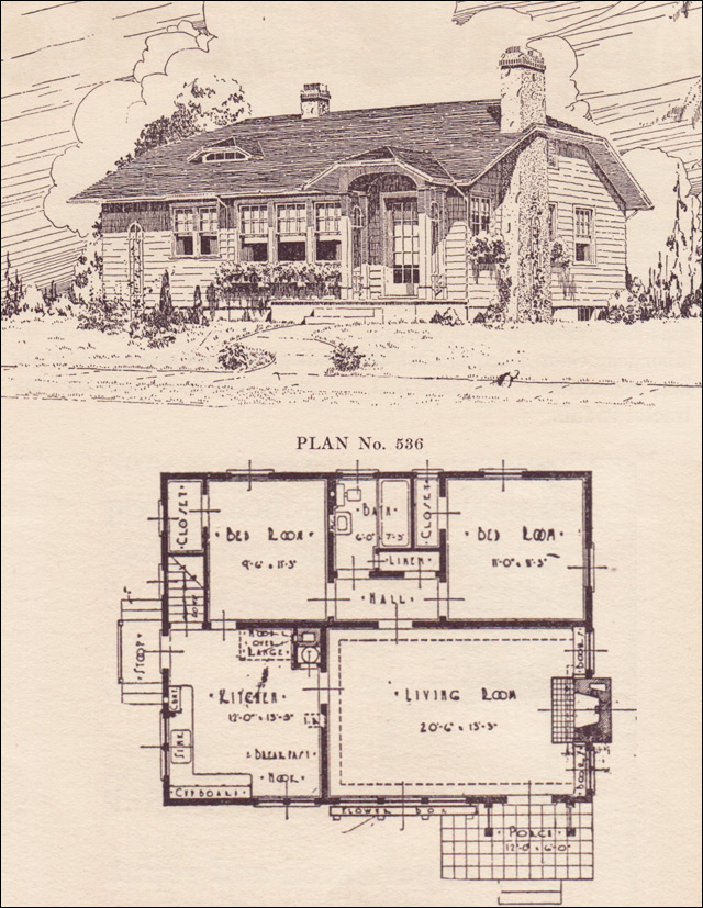 This plan wastes little space in its 800 square feet of living space ...
