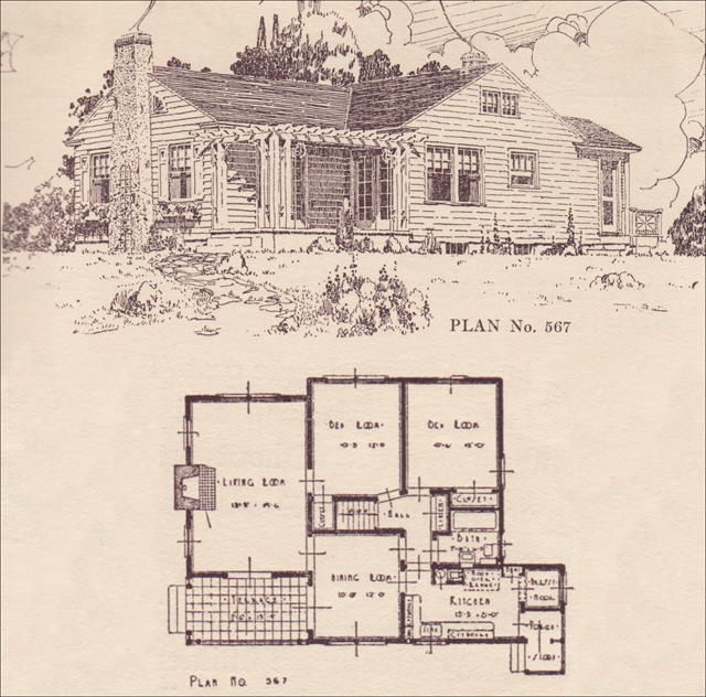 Modern Colonial Cottage 1924 House Plans The