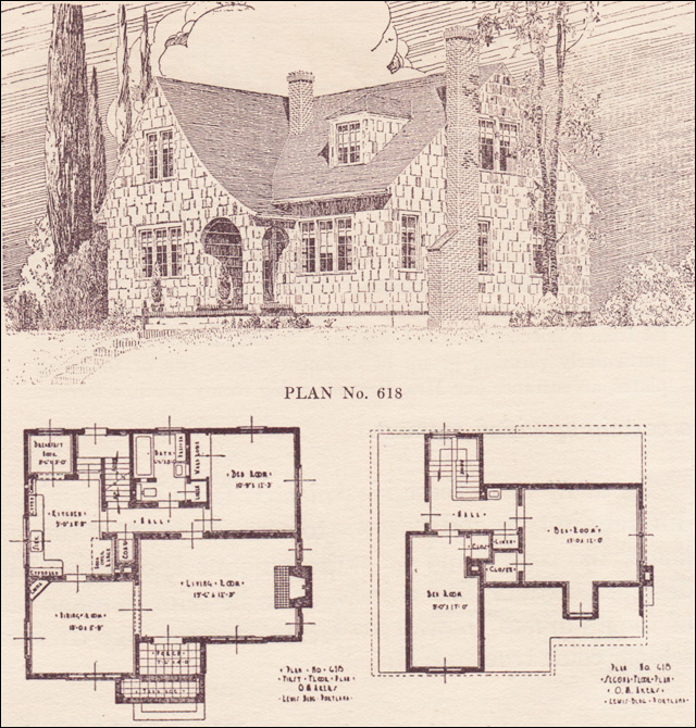 1924 English Revival - House plans - The Portland Telegram ... on log cabin plan book, chicken coop plan book, ranch house art, ranch house christmas,