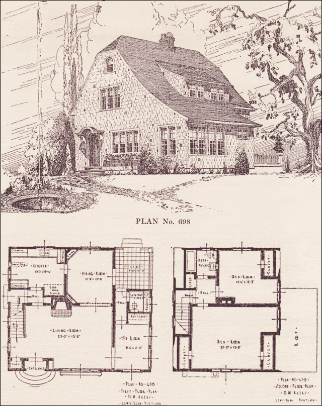 Shingled english revival house plans the portland for Oregon house plans