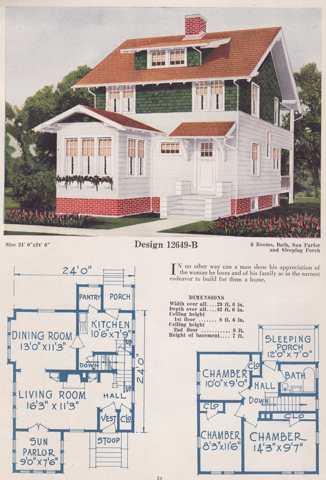 1925 eclectic bungalow two story bowes co hinsdale il for 1925 bungalow floor plan