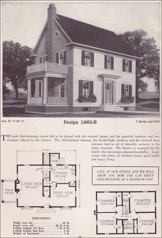 1925 colonial revival classic home two story 1925 Classic house plans