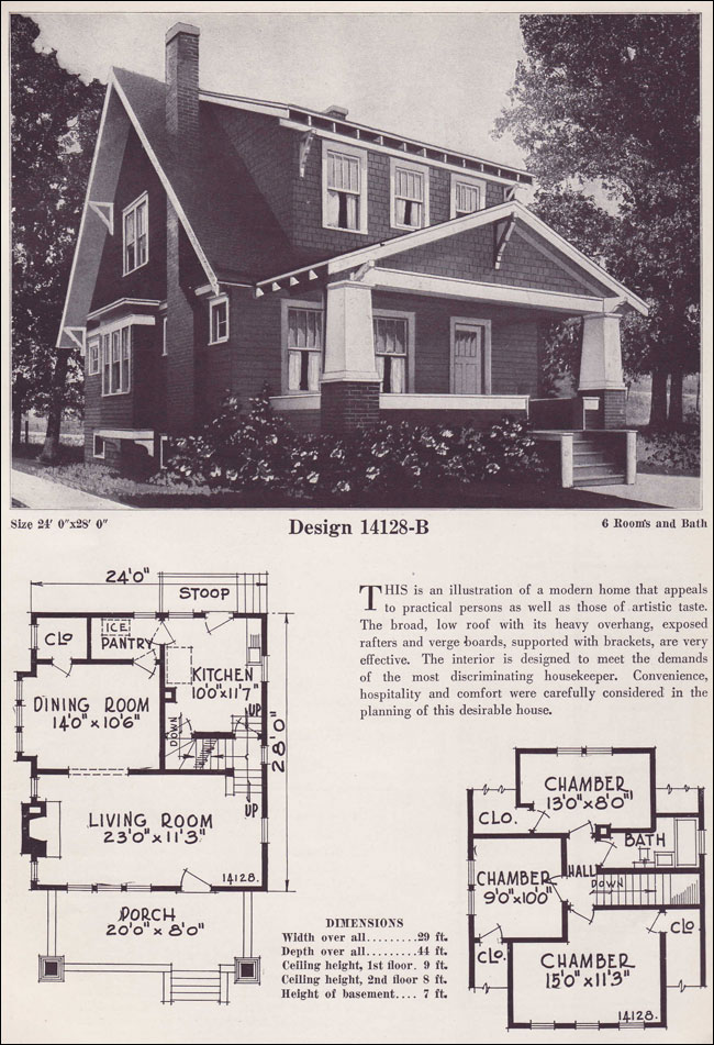 Craftsman style bungalow 1925 bowes co hinsdale il for 1925 house styles