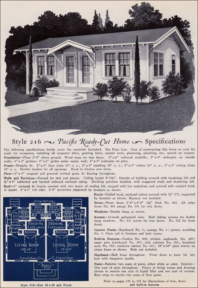 1925 pacific ready cut homes bungalow style studio duplex for 1925 house styles