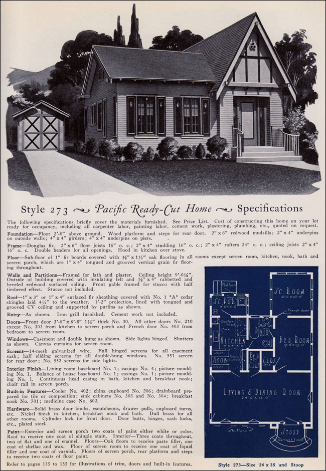 1925 no 273 pacific ready cut homes california for 1925 house styles