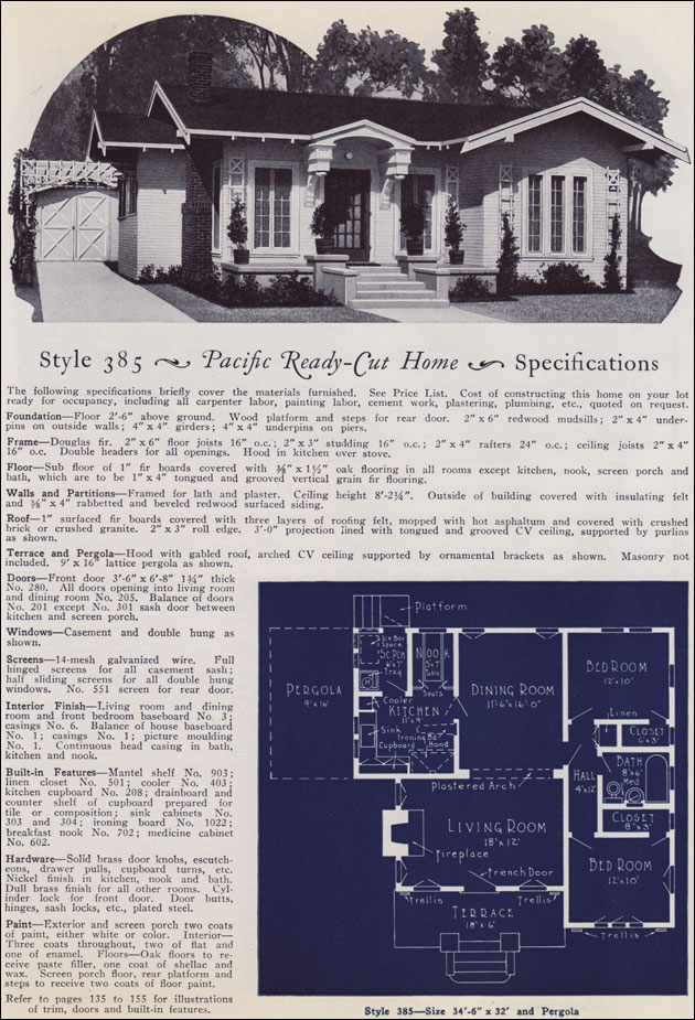 Eclectic Modern Cottage 1925 Pacific Ready Cut Homes