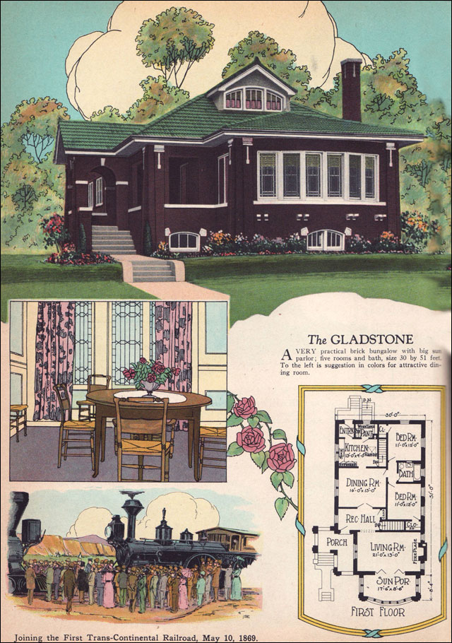 1925 Chicago Style Brick Bungalow American Residential