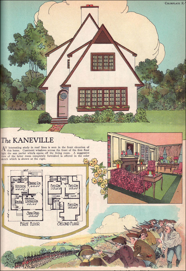 Front Elevation Antique : Kaneville by american builder magazine english