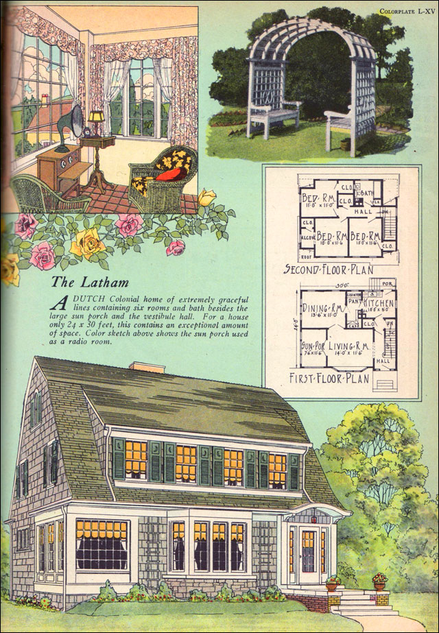1925 latham american builder magazine william a for Colonial homes magazine house plans