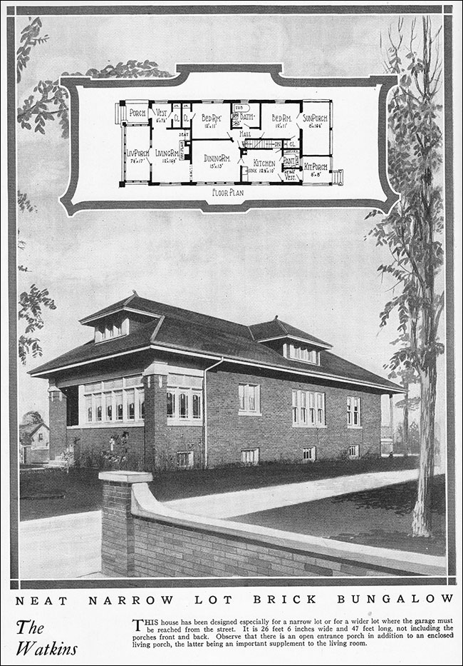 1925 Chicago Style Bungalow - Vintage House Plan for a Small ... on