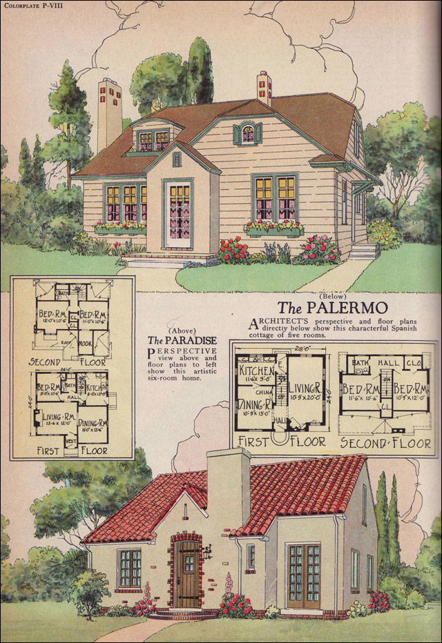 The 1926 palermo and paradise plans william a radford American home builder