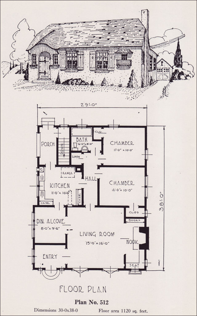 1926 Universal Plan Service No 512 Clipped Gable