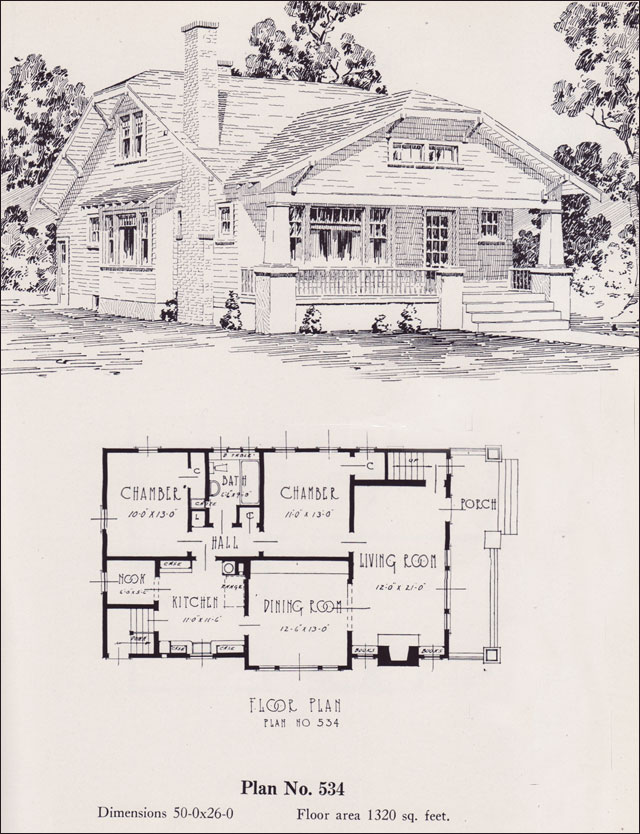 Modernized bungalow 1926 universal plan service no Universal house plans