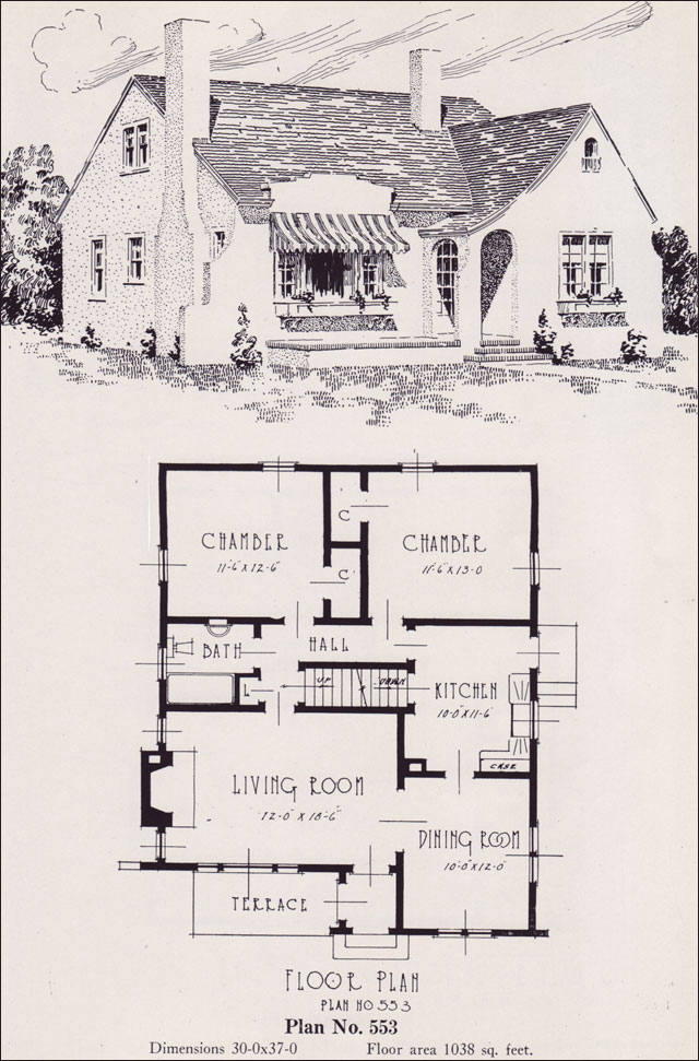Modern Eclectic Cottage 1926 Universal Plan Service No