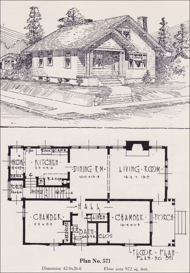 1926 universal plan service no 571 classic bungalow Universal design home plans