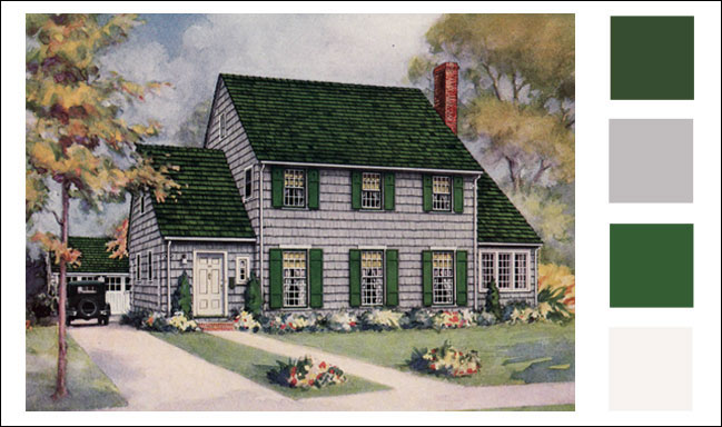 1928 Weatherbest Shingles - Gray Color Scheme for Traditional Style Home