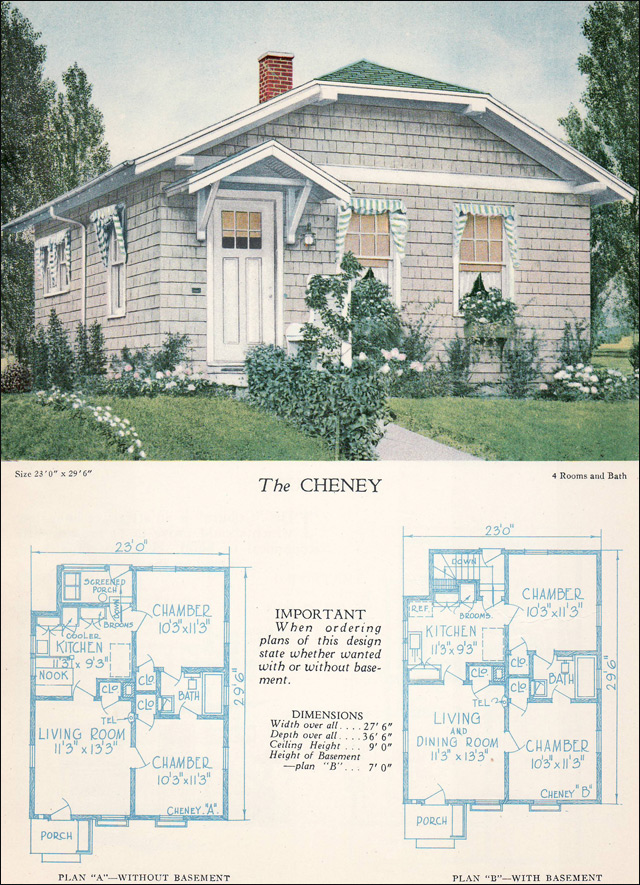 Clipped Gable Cottage The Cheney 1928 Home Builders