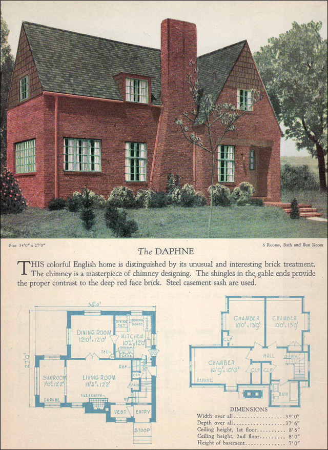 1928 Home Builders Catalog - The Daphne