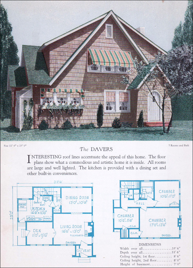 1928 Home Builders Catalog - The Davers