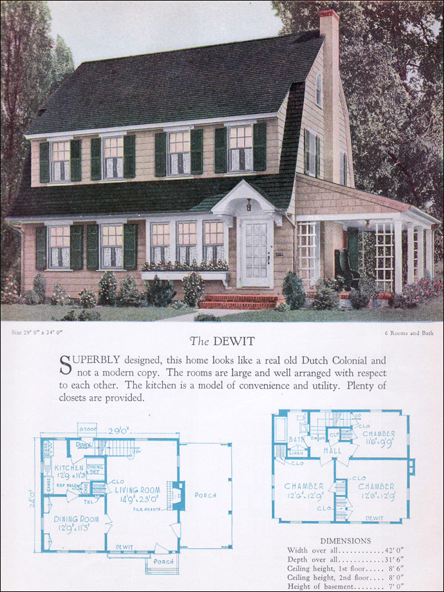 1928 Home Builders Catalog - The Dewit