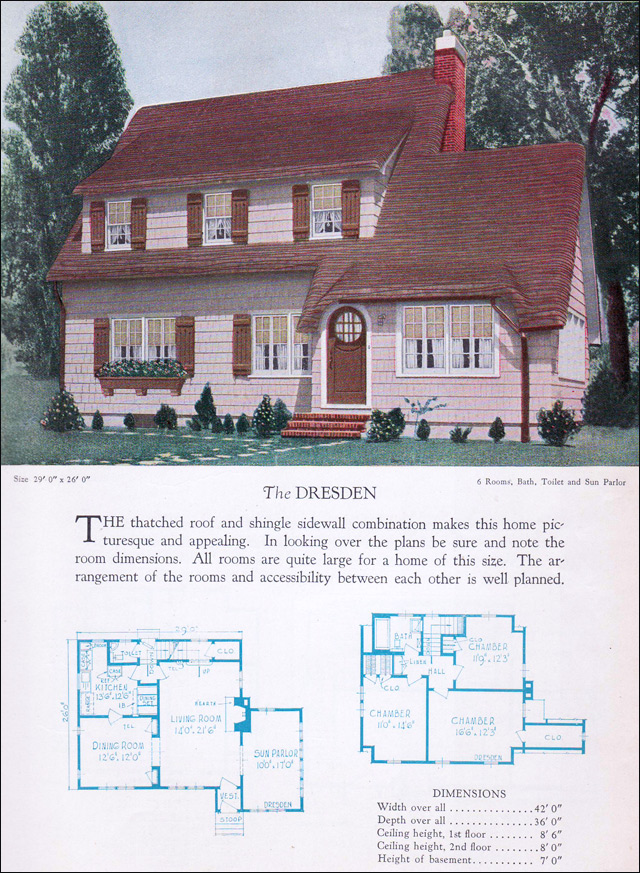 1928 Home Builders Catalog - Dresden