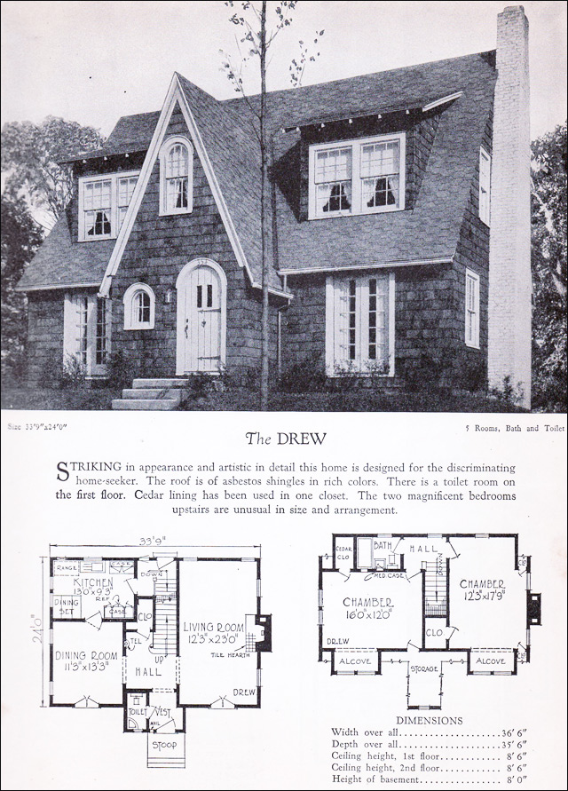 1928 Home Builders Catalog - The Drew