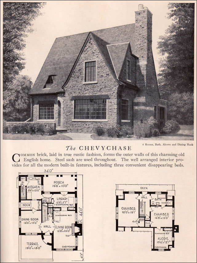 Chevychase house plan vintage american architecture for Home construction styles