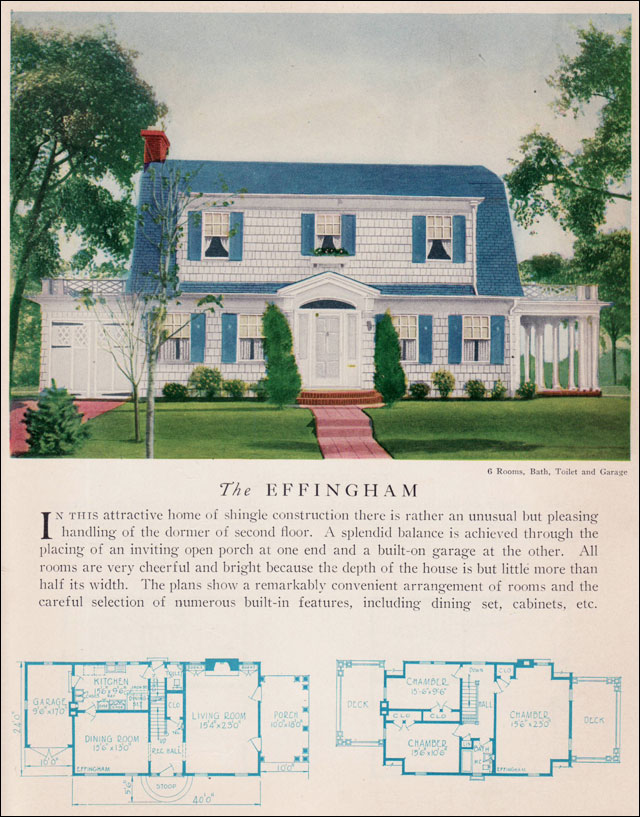 the 1929 effingham dutch colonial revival attached dutch colonial revival traditional kit house plan 1923
