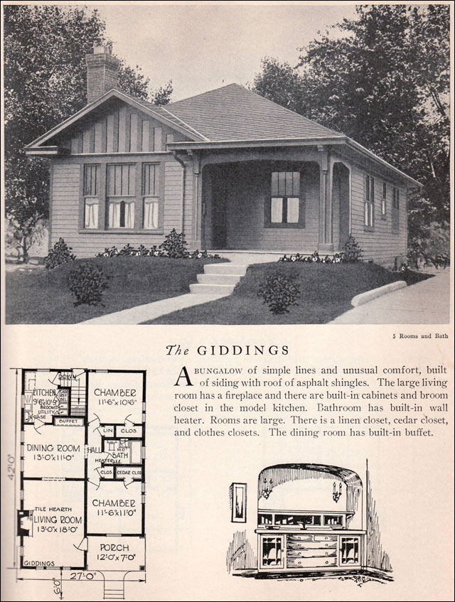 1929 home builders catalog giddings house plan for Home architecture 1930s