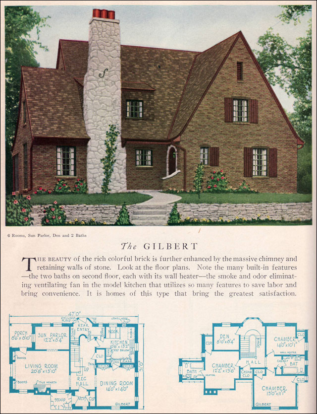 1929 home builders catalog gilbert house plan american for Home construction styles