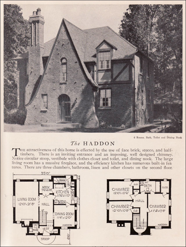 1929 Home Builders Catalog Haddon House Plan American