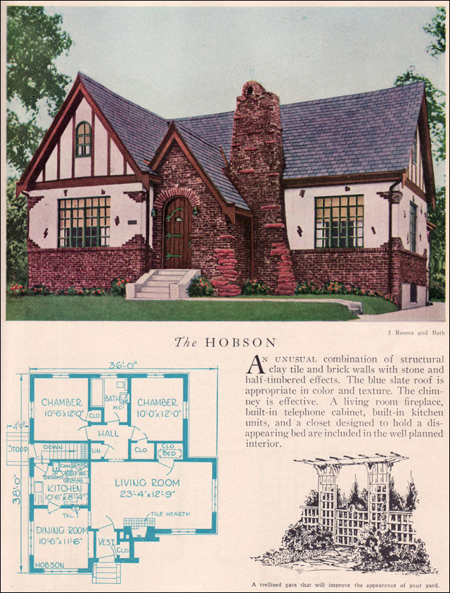 The 1929 Hobson Eclectic English Revival Home Builders