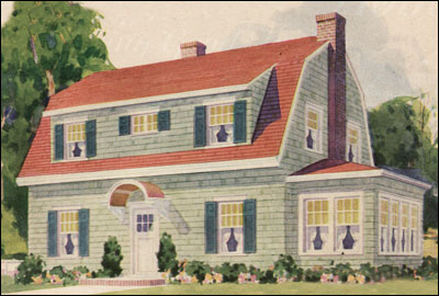 Dutch Colonial Revival Home Plans
