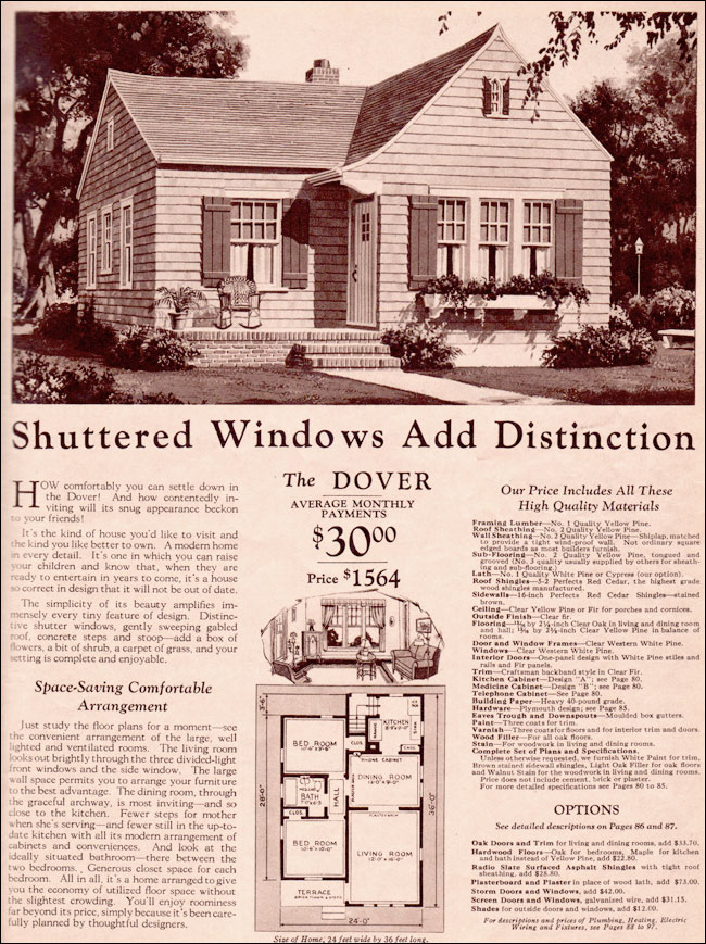 1930 Dover By Montgomery Ward Modern Minimal