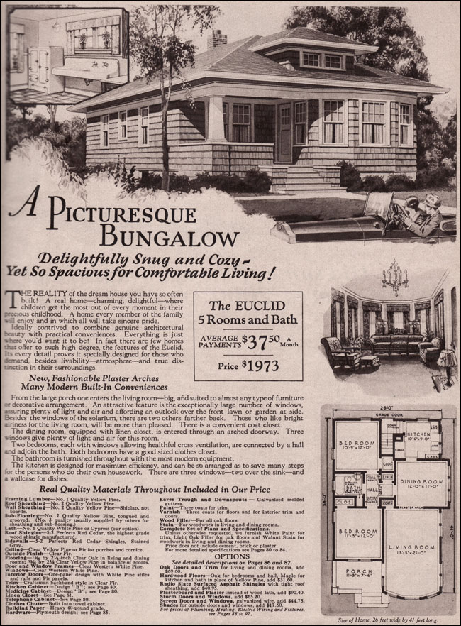 Montgomery Ward Kit Home 1930 Bungalow Hip Roof Euclid