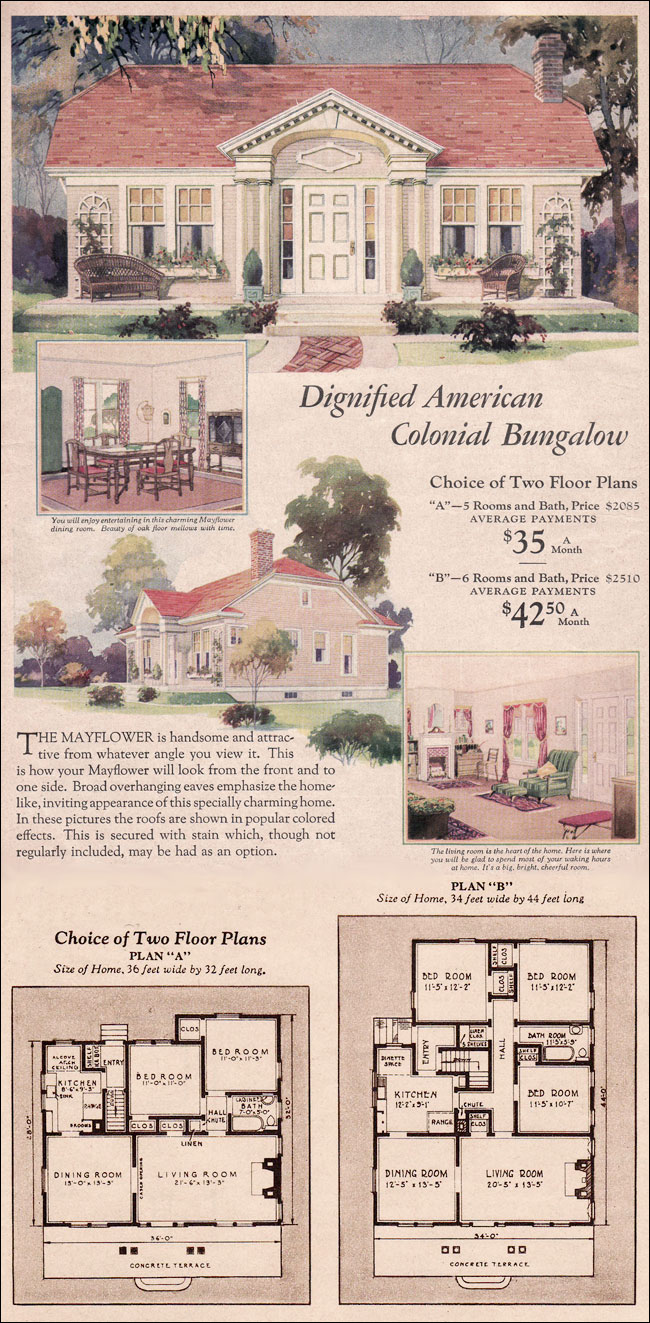 Exterior dentil molding and brackets on a bungalow joy for 1930s house plans
