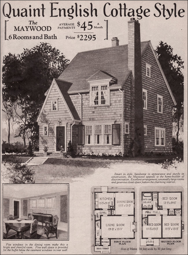 1930 english cottage maywood kit home montgomery ward for 1930s house plans