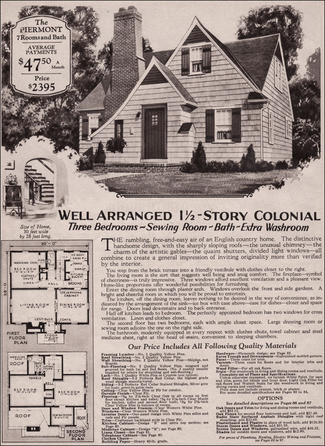 2 Story English Cottage Plans Floor Plans