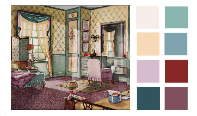 1930s Color Scheme 1930 Green Buff And Lavender