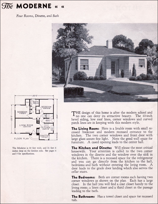 1940 gordon van tine homes moderne for 1940 house plans