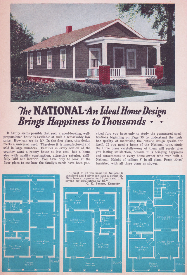 1935 bungalow style liberty homes by lewis mfg small for Bungalow company plans