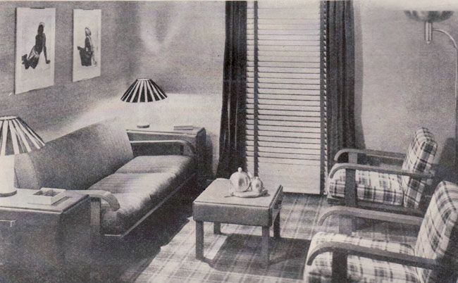1935 Living Rooms Gilbert Rohde Russell Wright