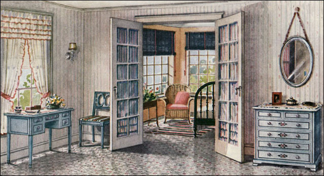 1922 armstrong sleeping porch vintage bedroom design for 1920s bedroom ideas