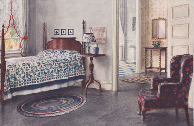 1924 armstrong bedroom colonial style vintage interior for Home decor 1920s