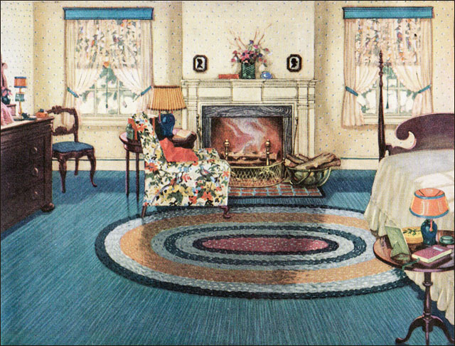 1926 armstrong blue yellow bedroom 1920s design for 1920s bedroom ideas