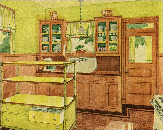 1929 bright chartreuse kitchen 1920s design inspiration for 1920 kitchen cabinets